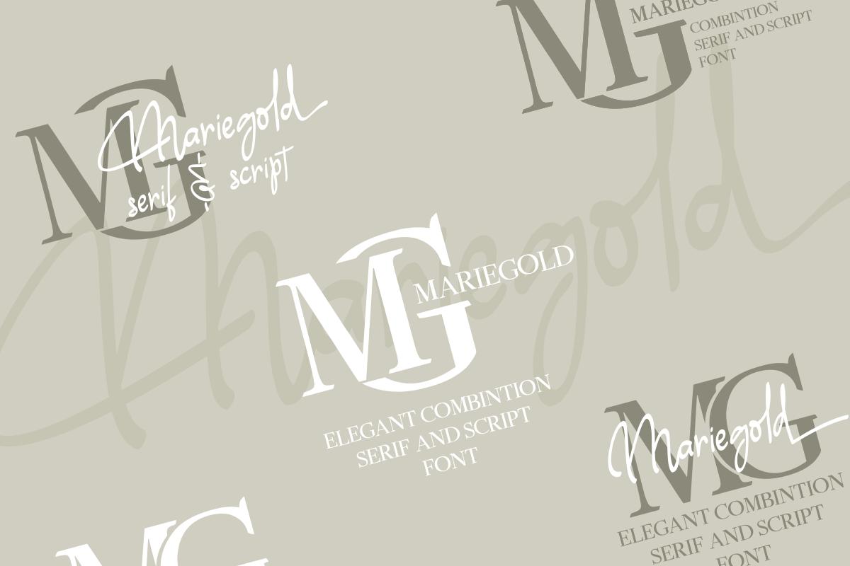 Mariegold Luxury Font Duo example image 5