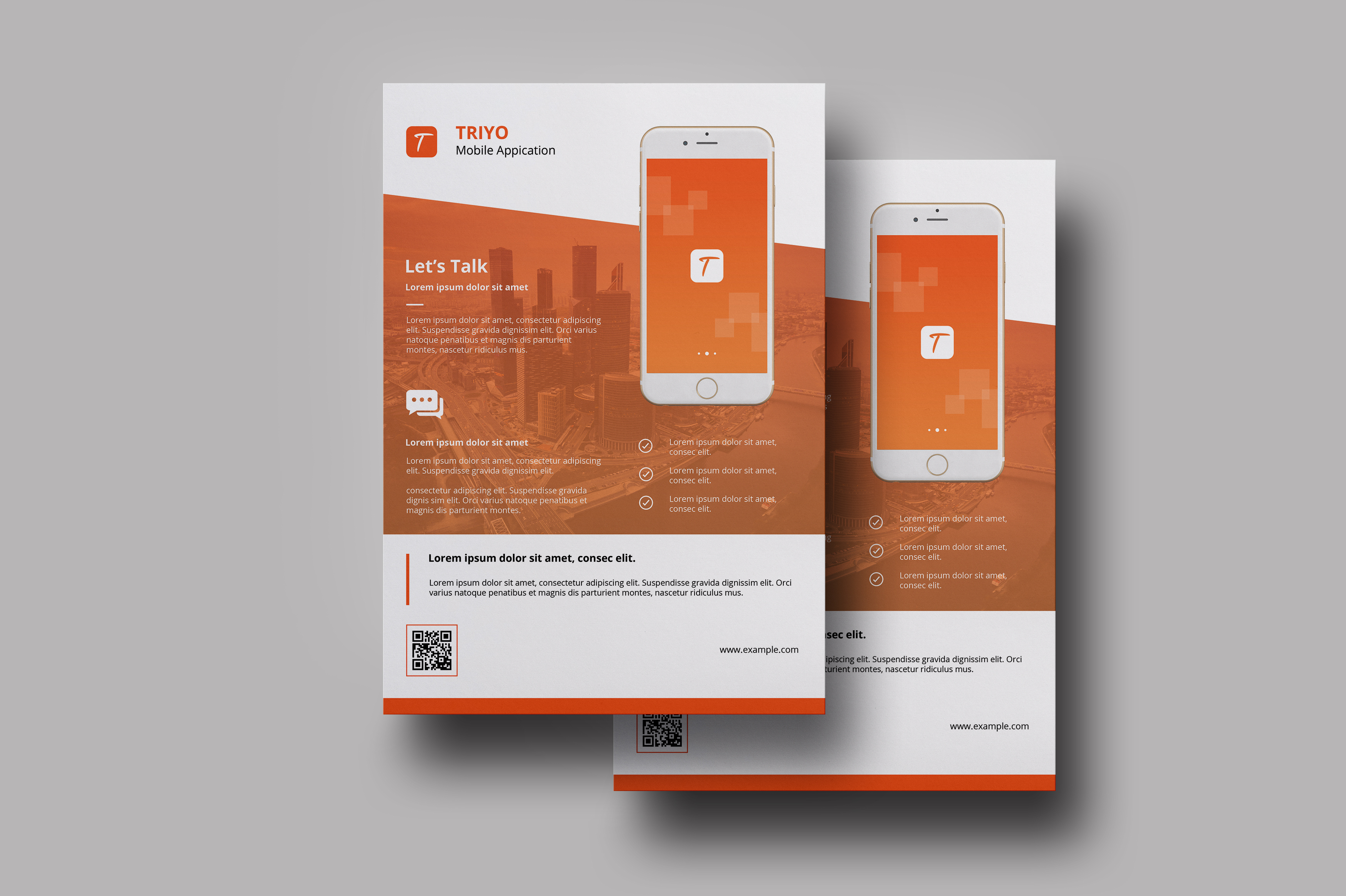 Mobile application flyer  example image 2