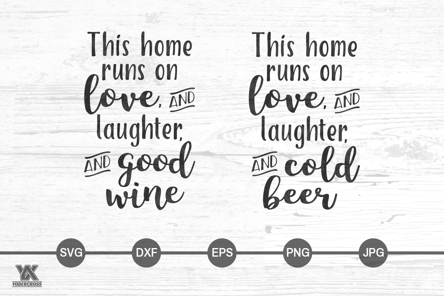 This Home Runs On Good Wine and Cold Beer SVG Set example image 2