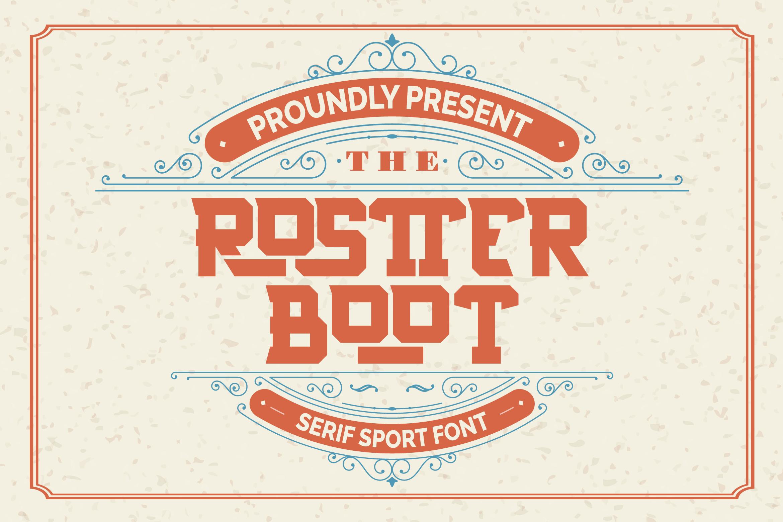 Rostter Boot | Serif Sport Font example image 2