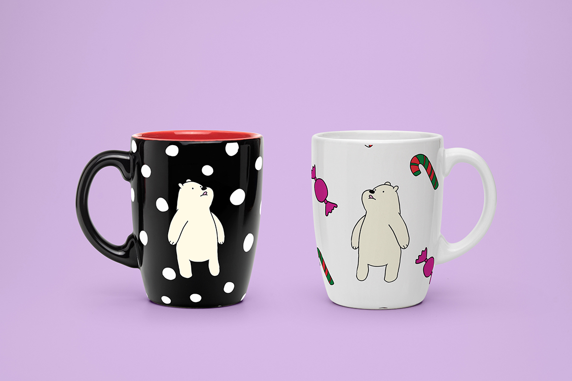 Christmas bears and patterns example image 11