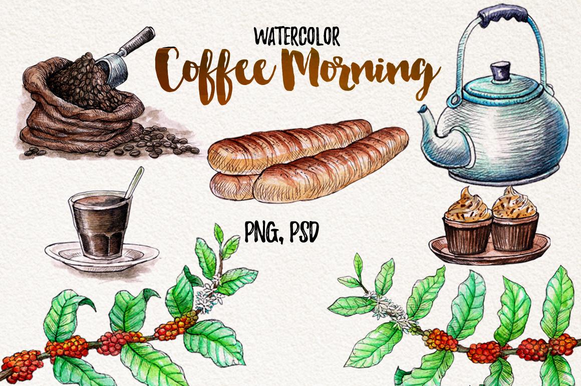 Watercolor Coffee (promo 50%) example image 2