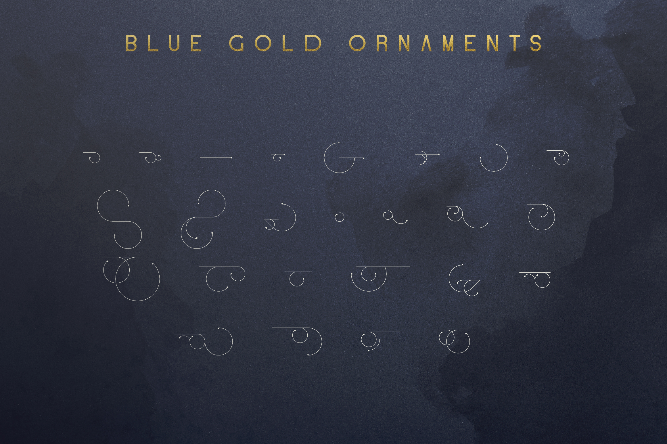Blue Gold sans serif font Extras example image 10