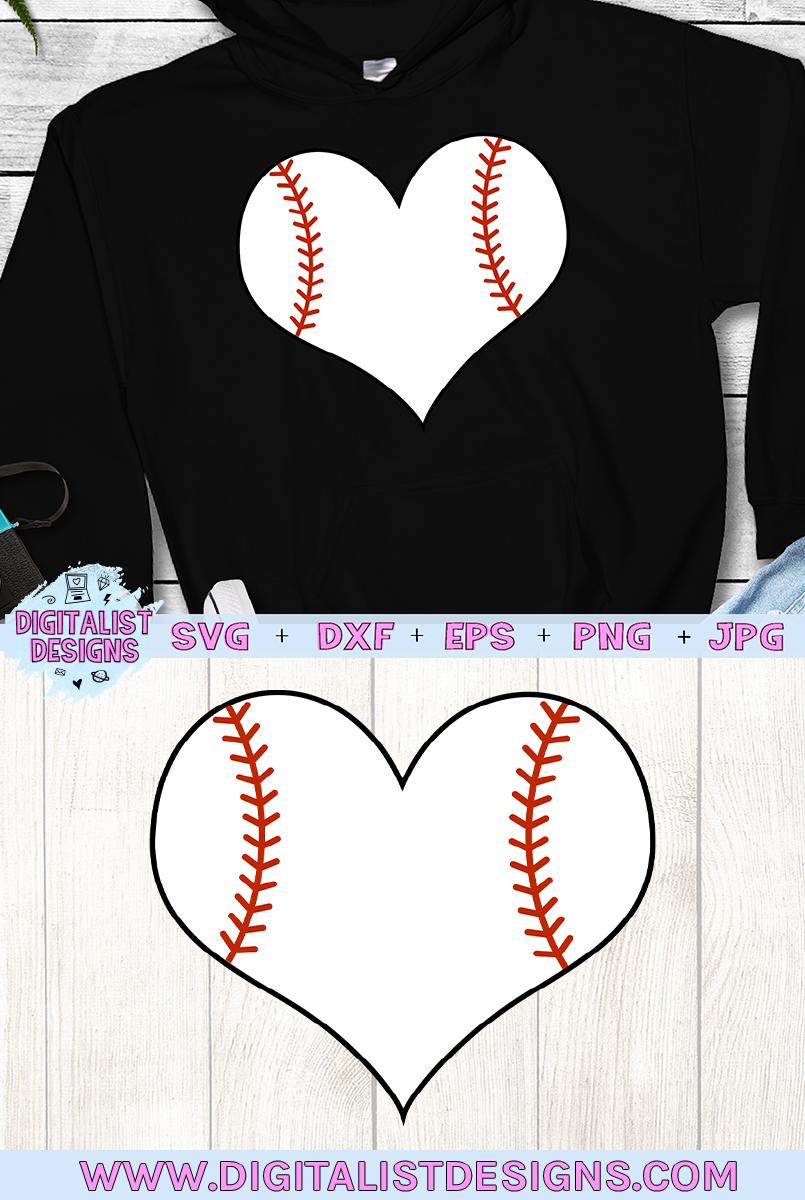 Baseball Heart SVG example image 3