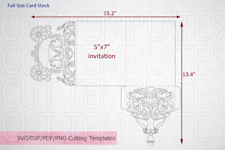 Princess Bride Trifold Wedding Invitation laser cut svg dxf example image 5