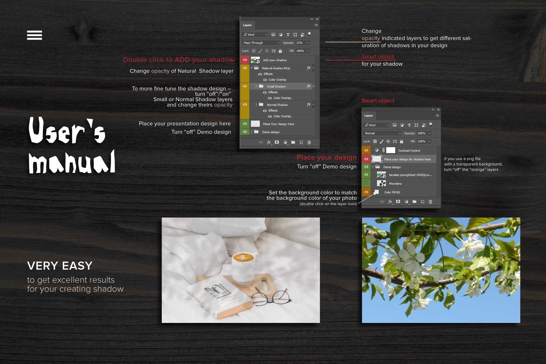 MockUp Natural Plant Shadow creator example image 7