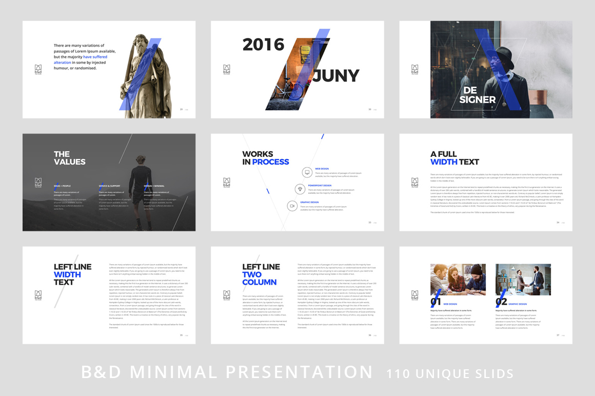 B&D-Powerpoint & Keynote Template example image 5