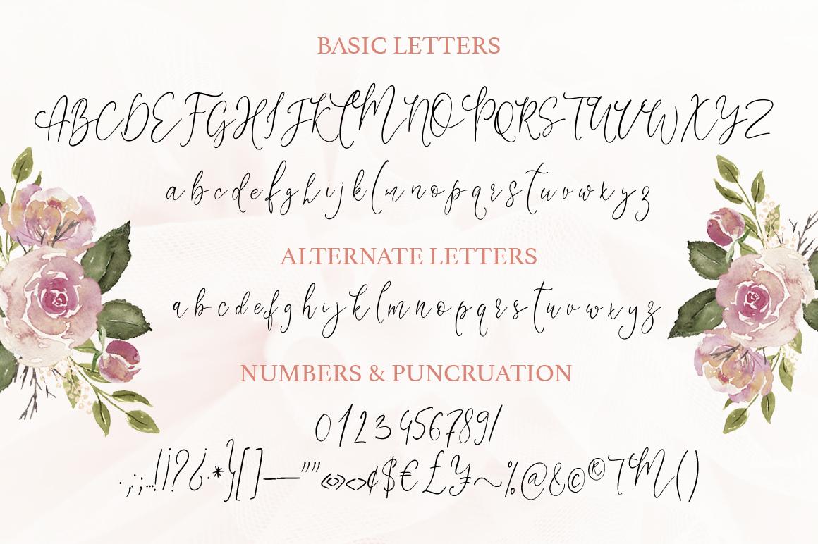 Little Girl. Gentle Script Font. example image 10