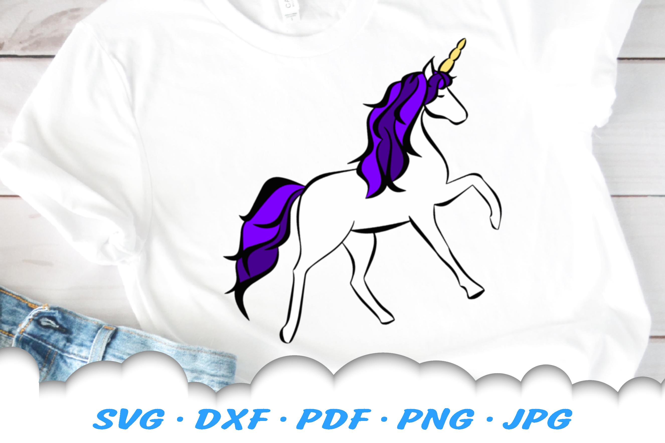 Unicorn Fantasy SVG DXF Cut Files example image 2
