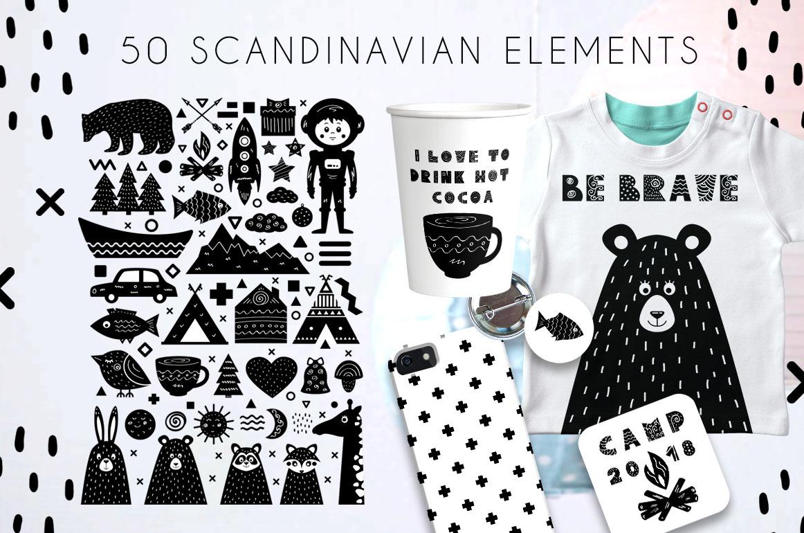 Yeti - Scandinavian font & elements example image 2
