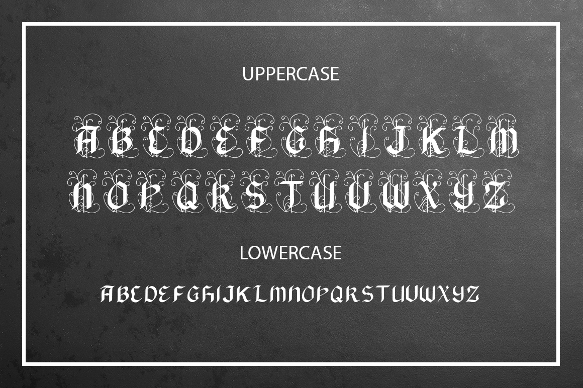 Black Arrow blackletter font  example image 2
