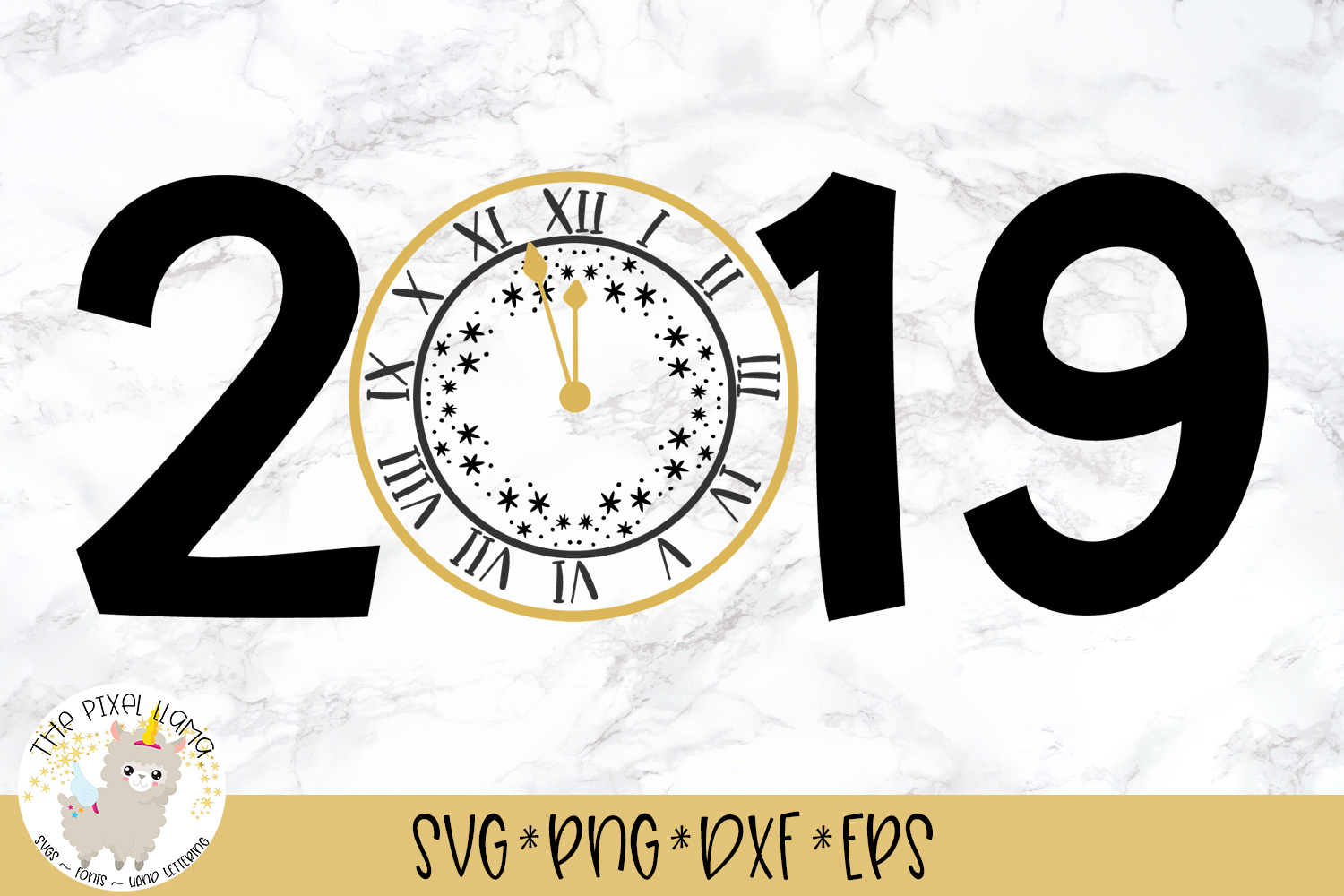 2019 New Years SVG Cut File example image 1