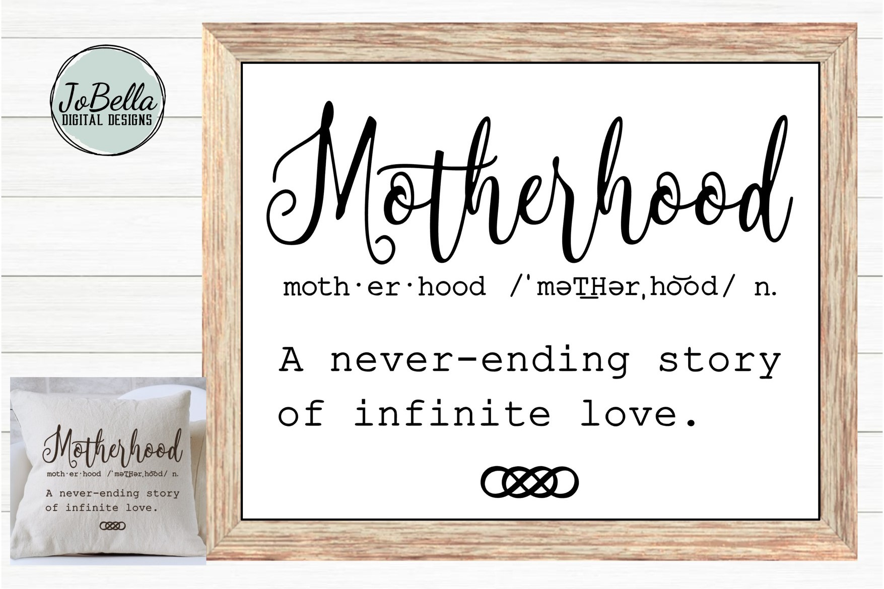 Motherhood SVG, Sublimation Design and Mother's Day Print example image 1
