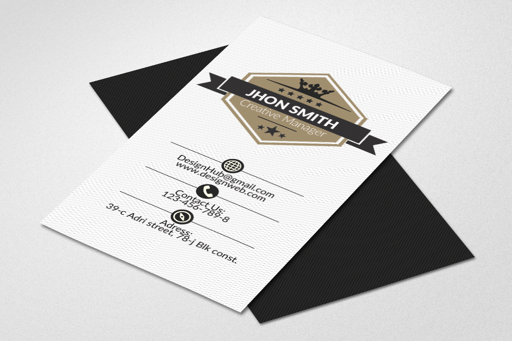 Vertical Business Cards Psd example image 1
