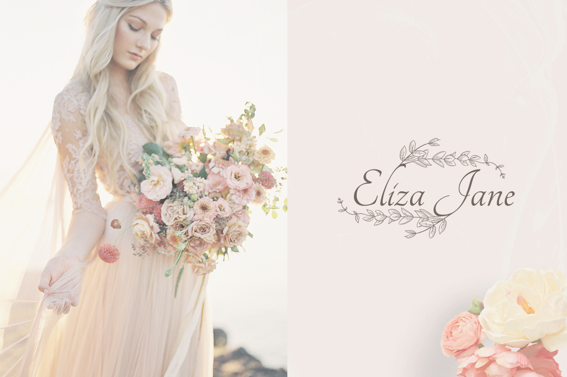 Flowered Monogram & Logo Collection example image 10