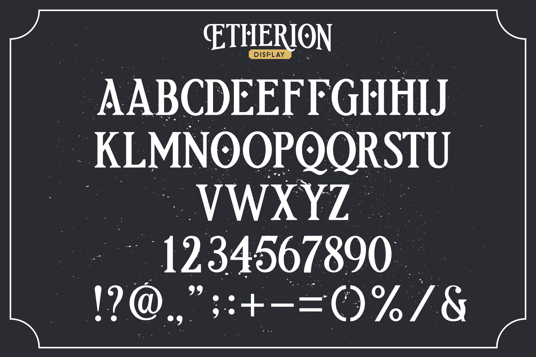 Etherion - Vintage Display font example image 8