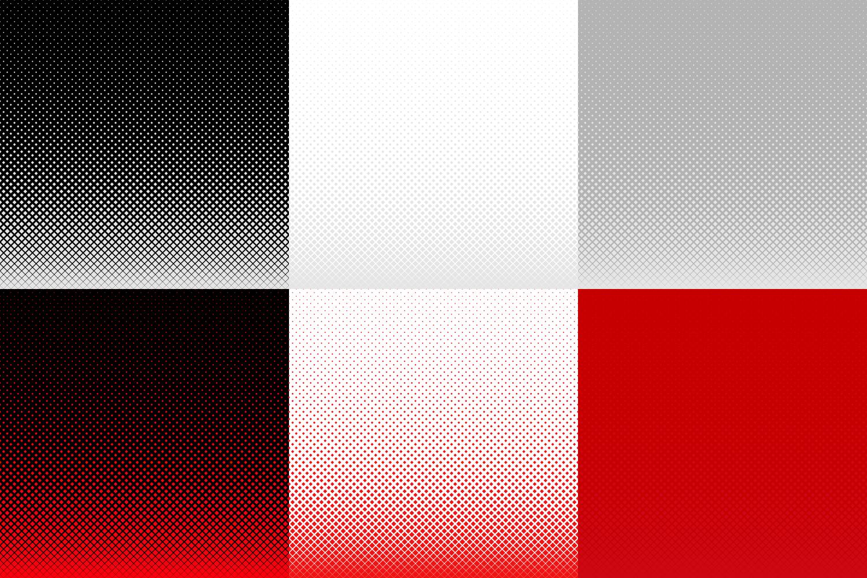 30 Halftone Square Backgrounds AI, EPS, JPG 5000x5000 example image 3