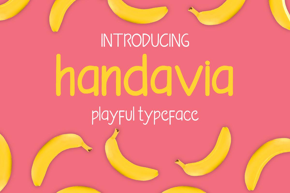 handavia font example image 1