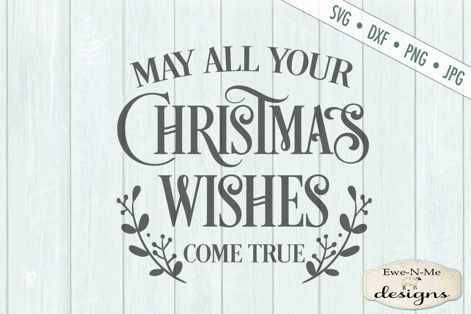 Christmas Wishes - Holiday - SVG DXF Files example image 2