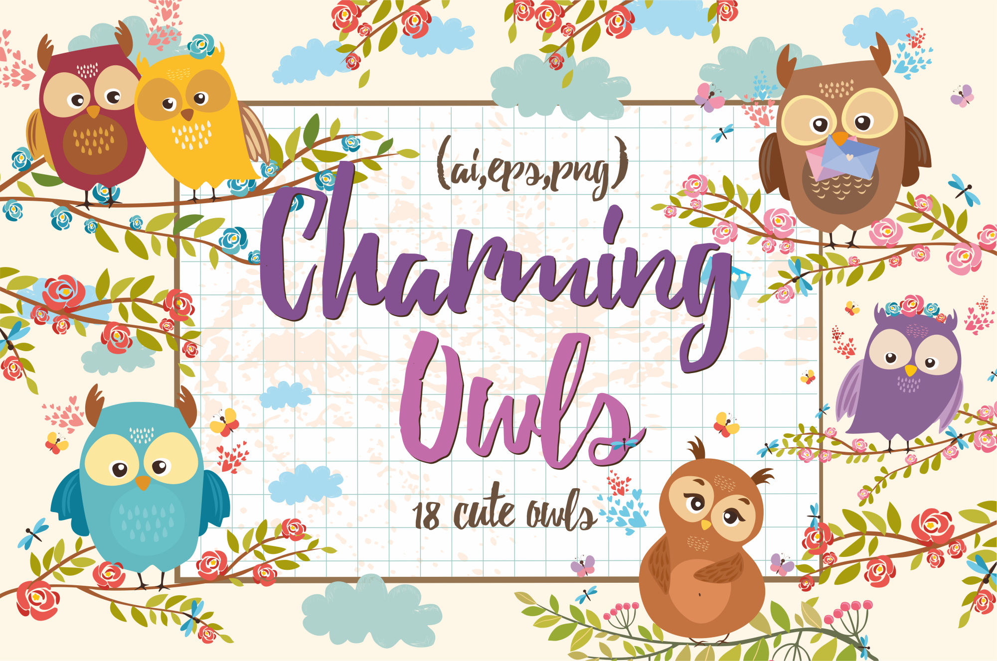 Charming Owls  example image 1