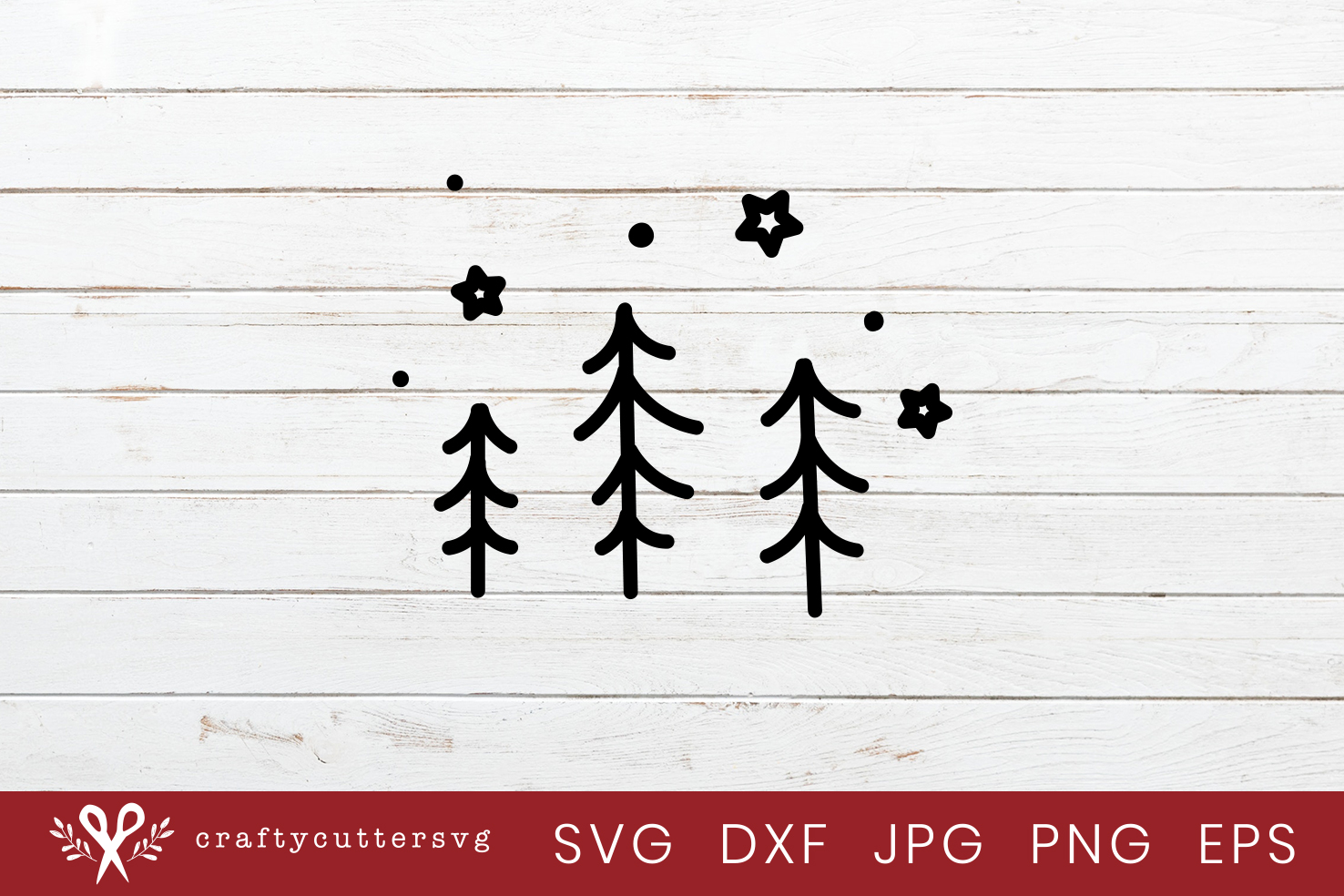 Christmas Trees Bauble Svg Cut File Bell Clipart example image 1
