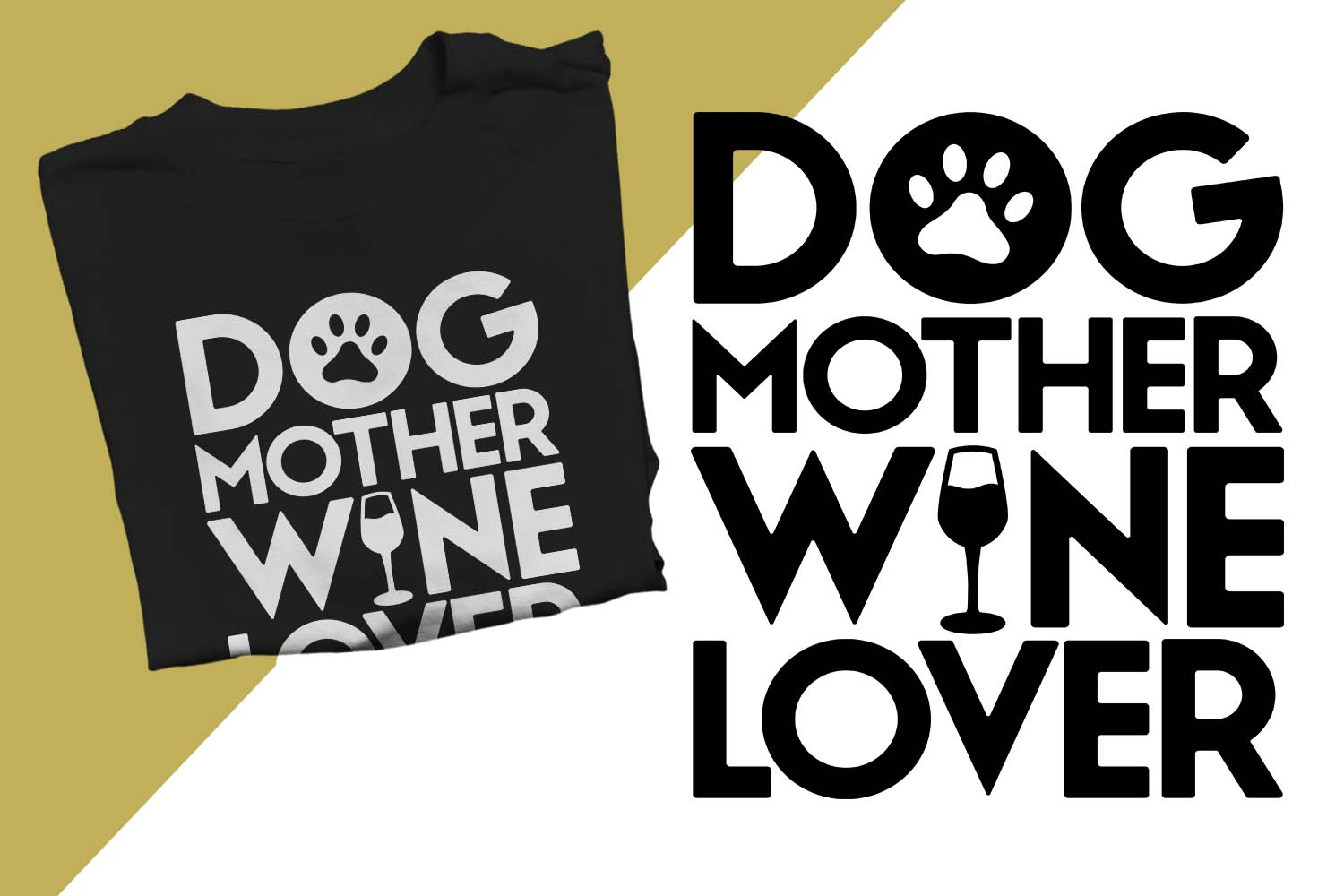 Dog Mother Wine Lover Printable example image 1