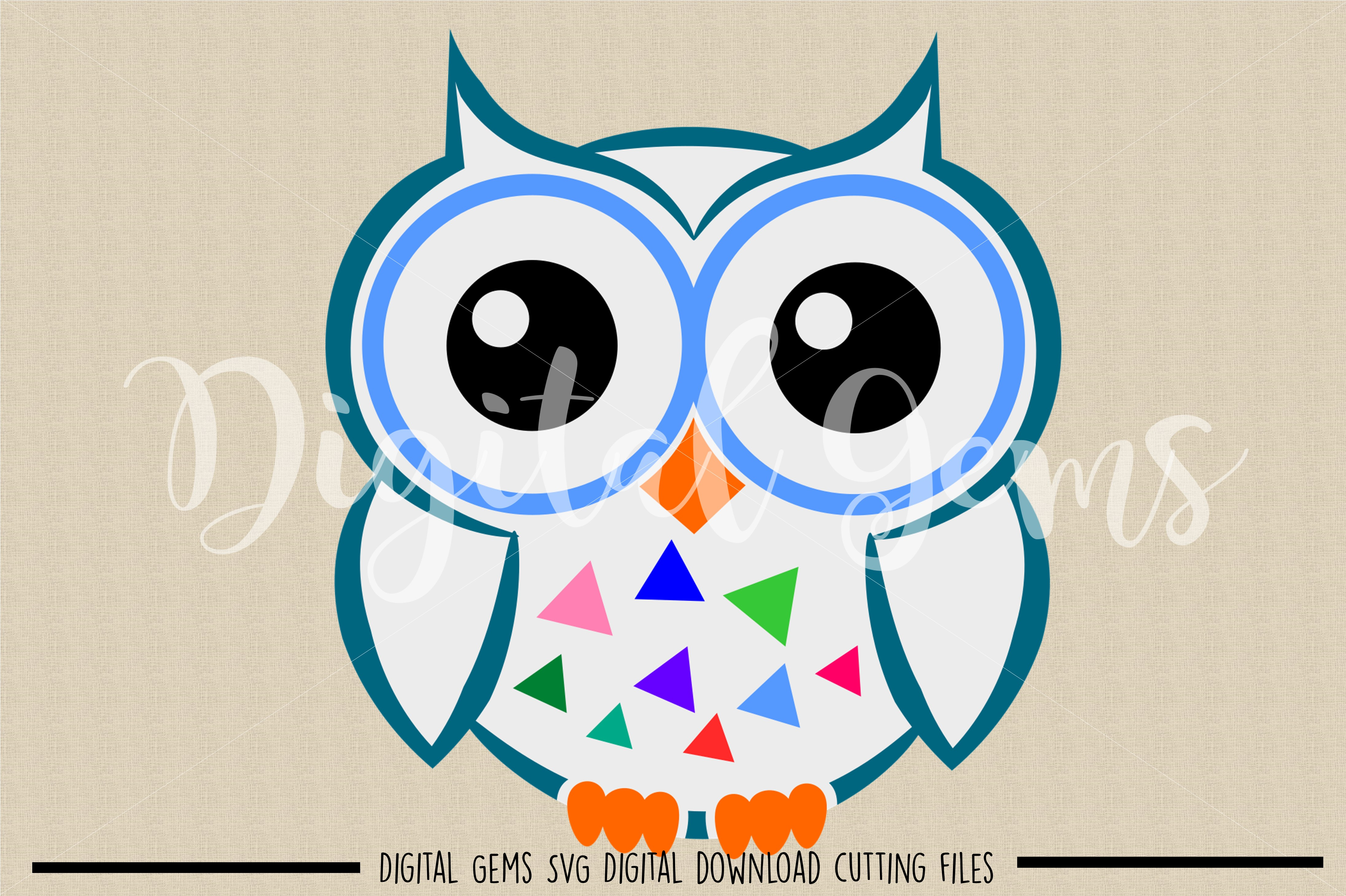 Owl SVG / DXF / EPS / PNG files example image 2