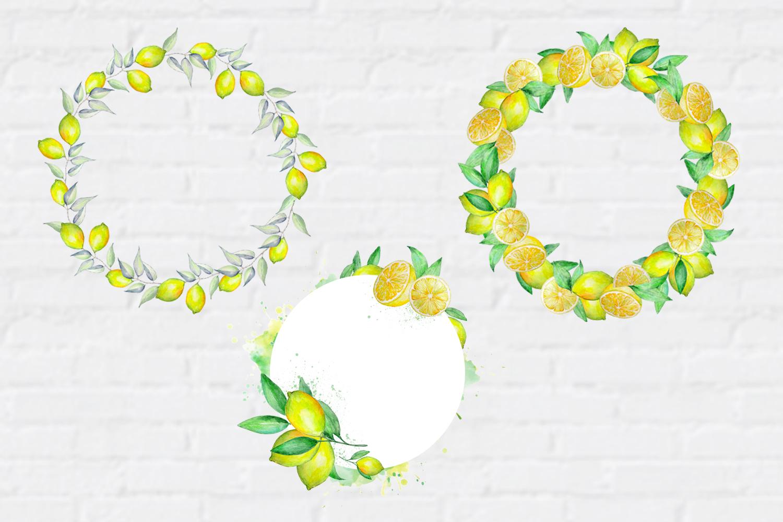 Watercolor Lemon Clipart, Tropical Fruit example image 4