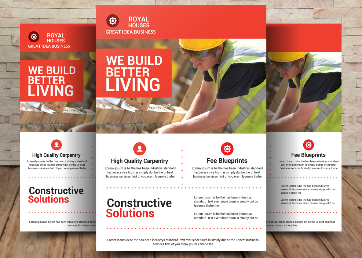 Construction Business Flyer example image 1