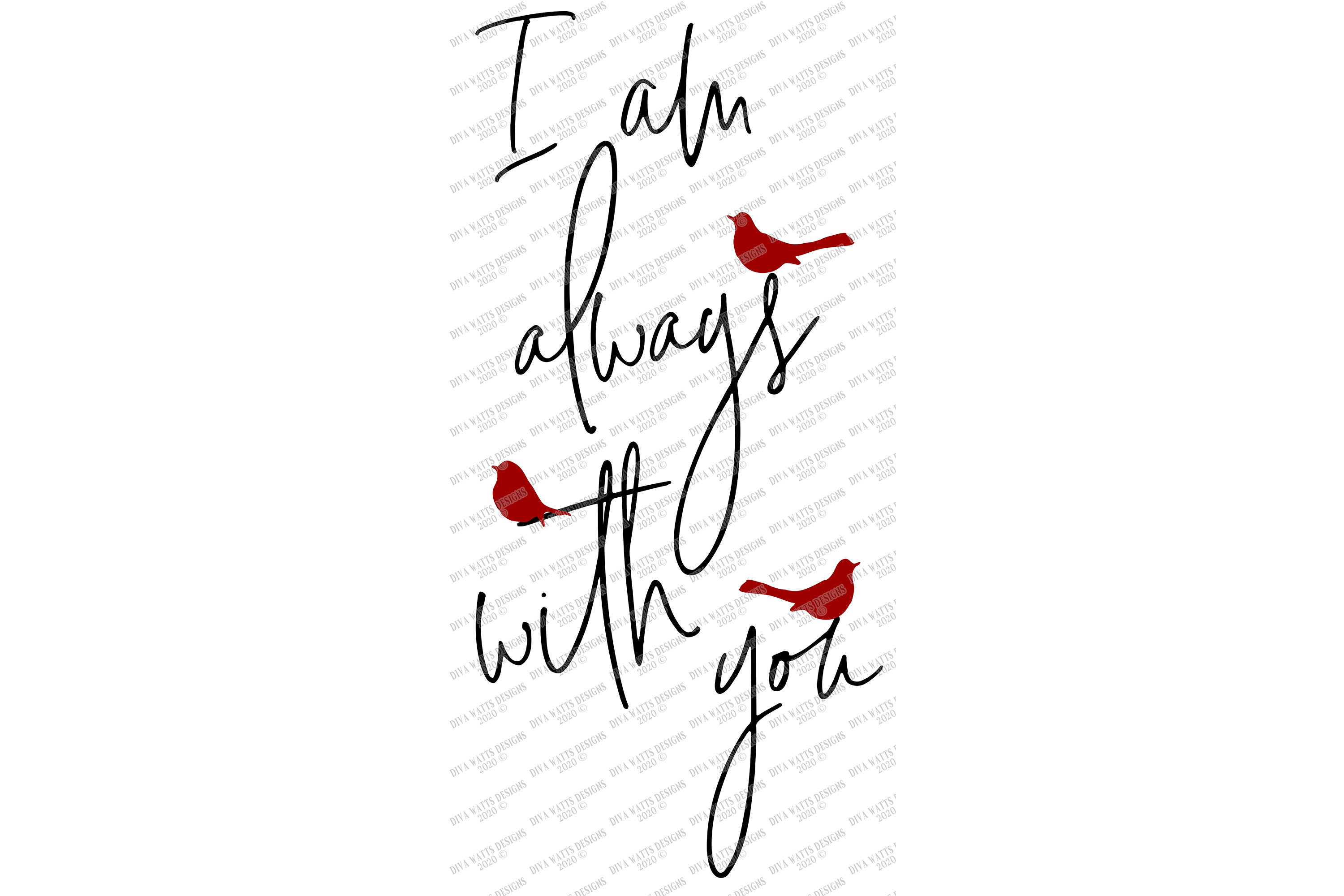 I am always with you - Red Cardinal - Grief Loss SVG DXF JPG example image 3