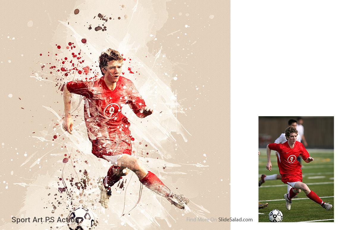Sports Modern Art Photoshop Action example image 20