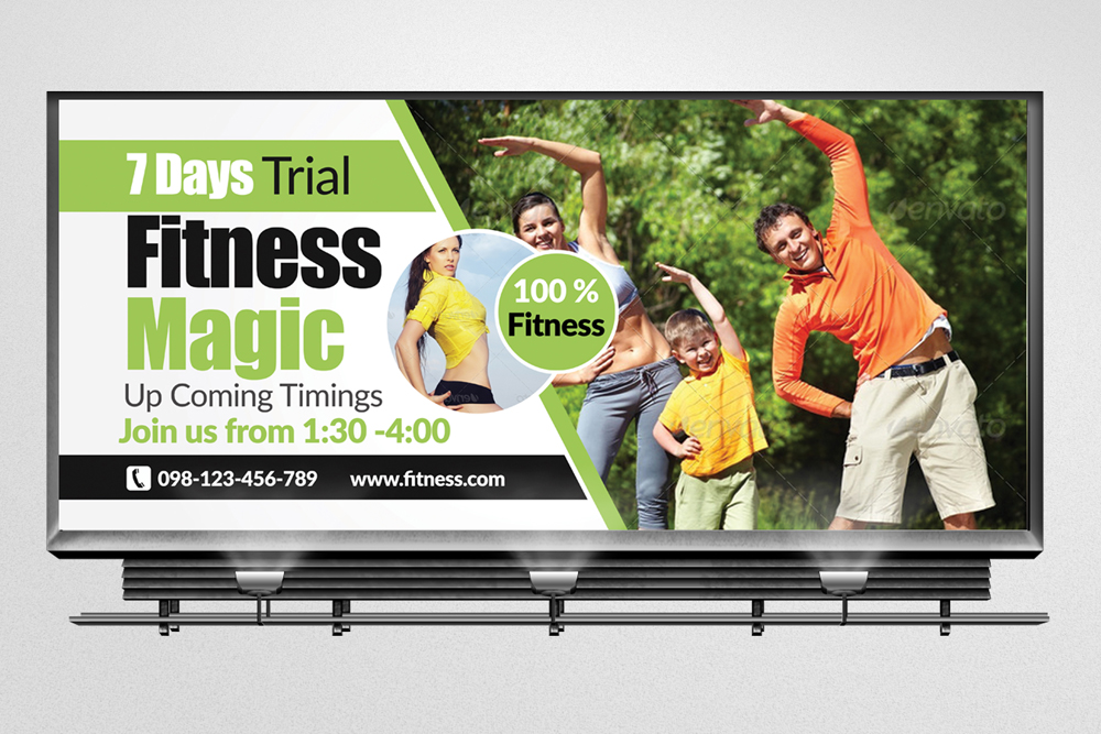 Body Fitness Billboard Banners example image 2