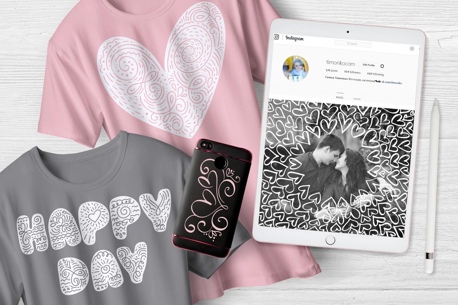 Valentine Bundle mockup example image 13