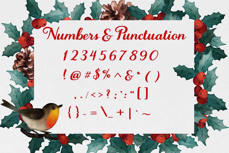 Wassailing - A handwritten script font example image 13