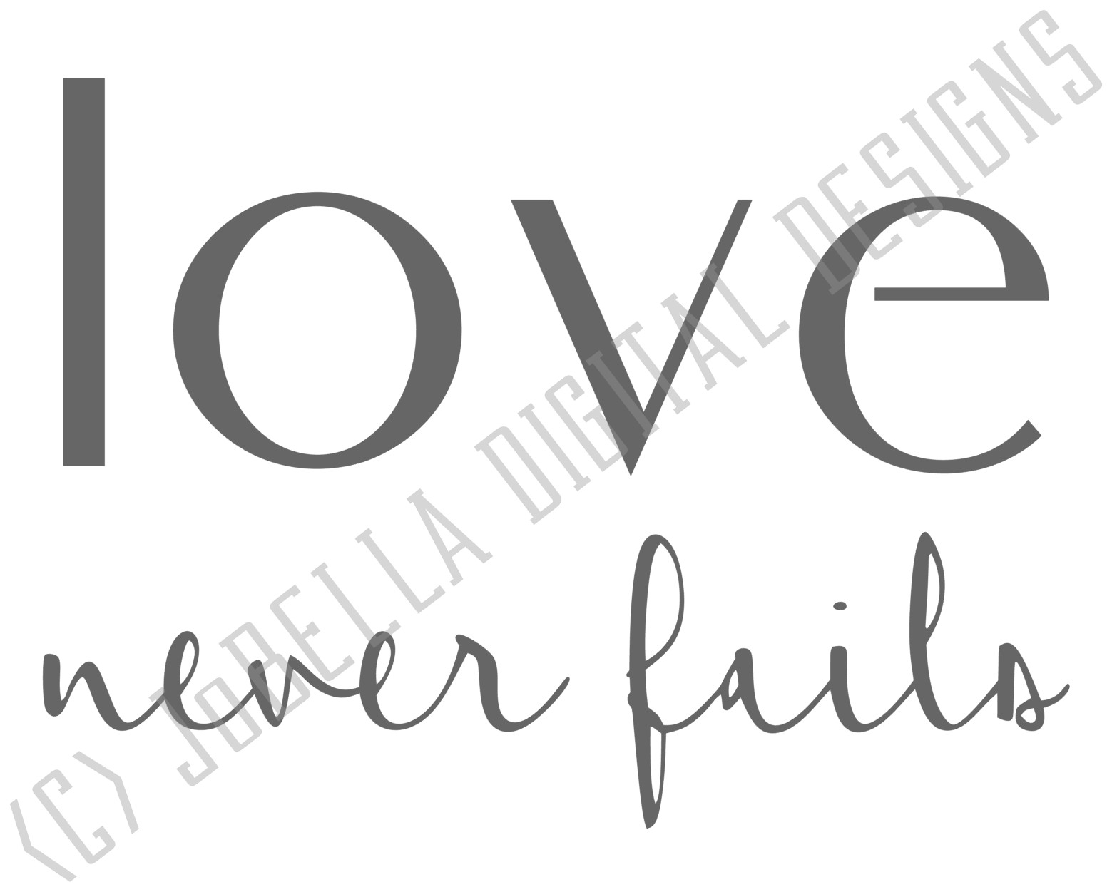 Corinthians Love Never Fails SVG, Sublimation and Printable example image 2