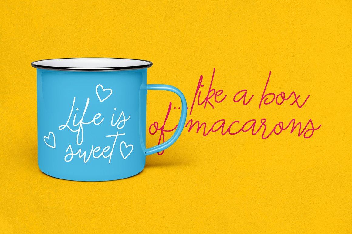 Macarons - Font and Extras / Cursive Font / Script Font / example image 3