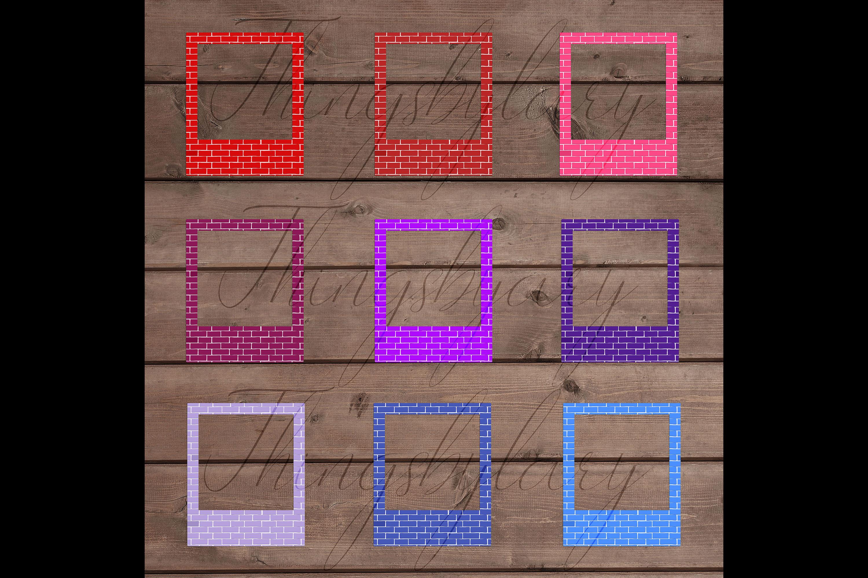 254 Brick Wall Polaroid Photo Booth Baby Shower Photo Frames example image 9