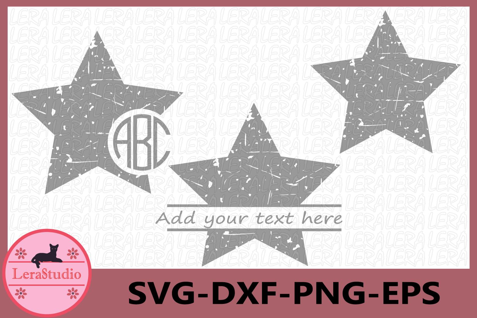 Star Grunge SVG, Stars Svg, Stars Monogram, Silhouette Vinyl example image 1
