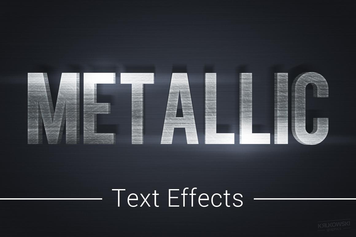 Metallic Text Effects Mockup example image 1