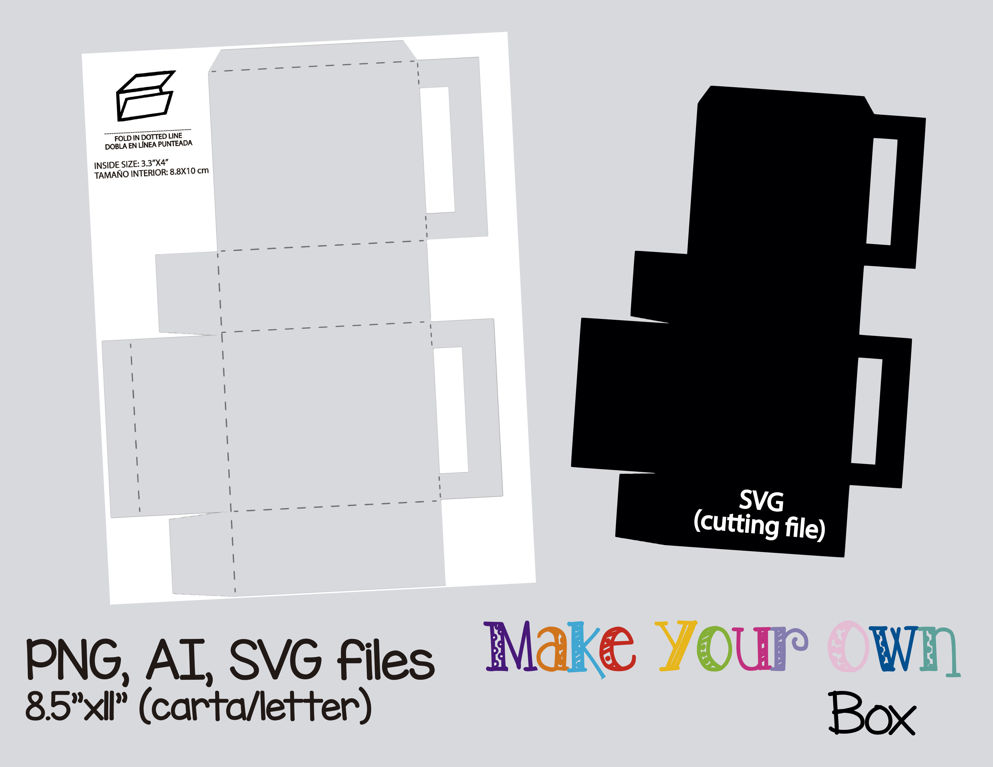 Box Template Collage Sheet Template Digital Template Collage