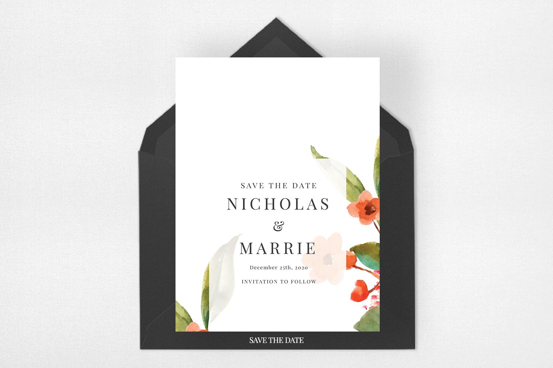 Watercolor Floral Wedding Suite example image 4
