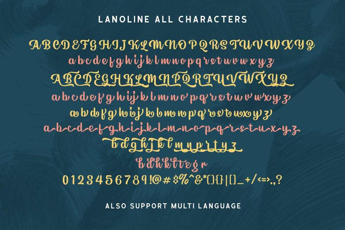 Lanoline - A Playful Script example image 9