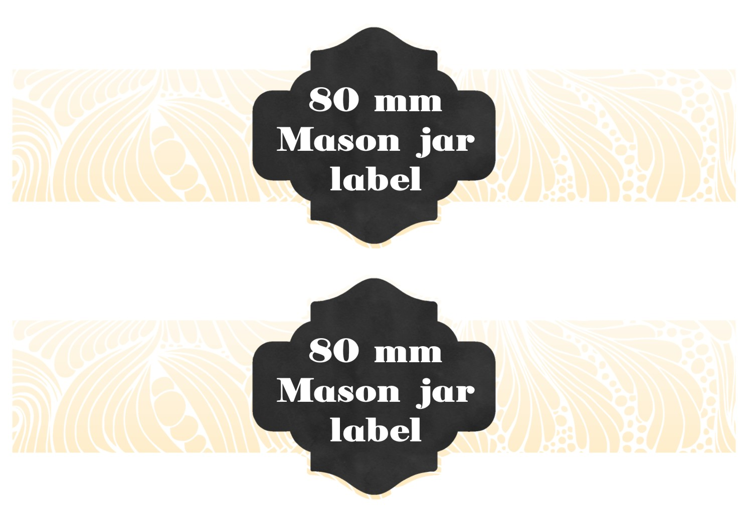 Digital Mason Jar label templates example image 2