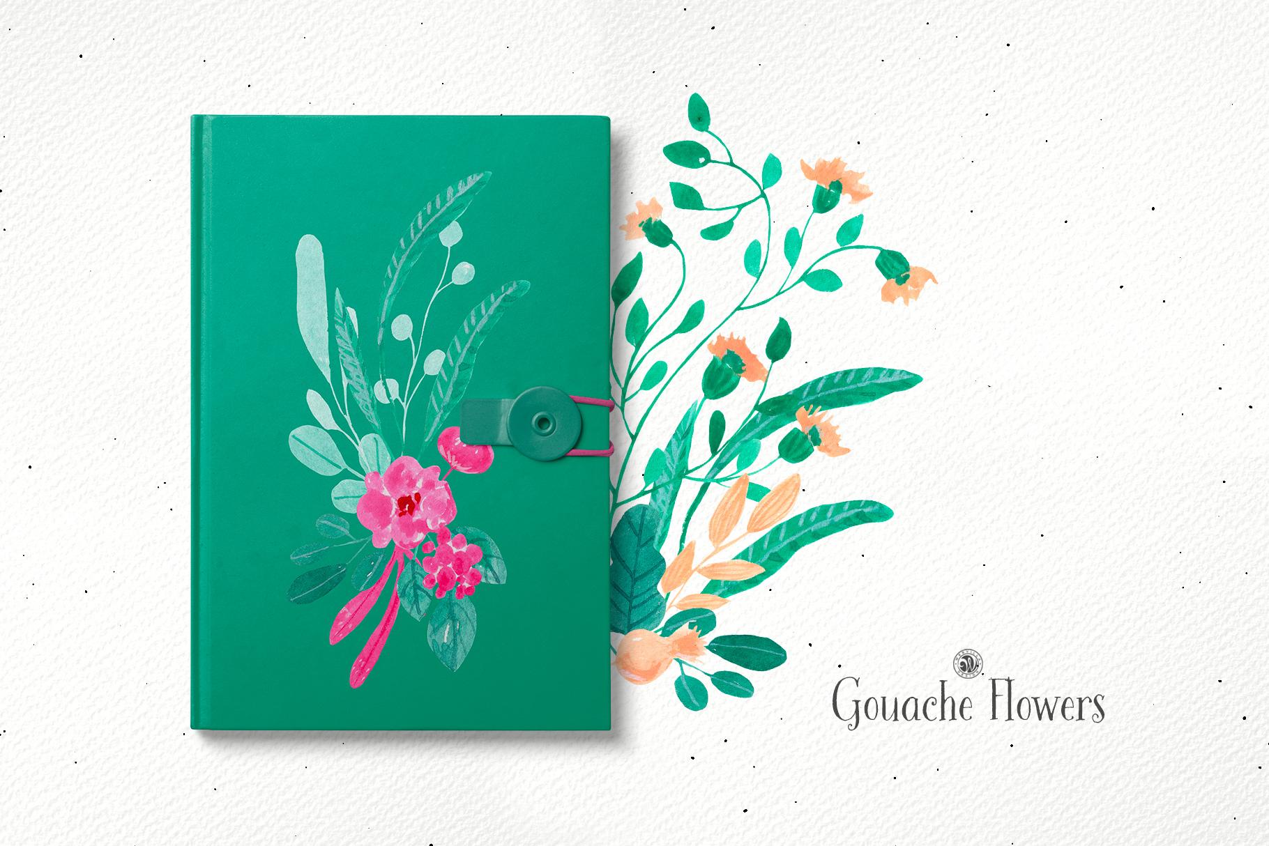 Gouache Flowers example image 6