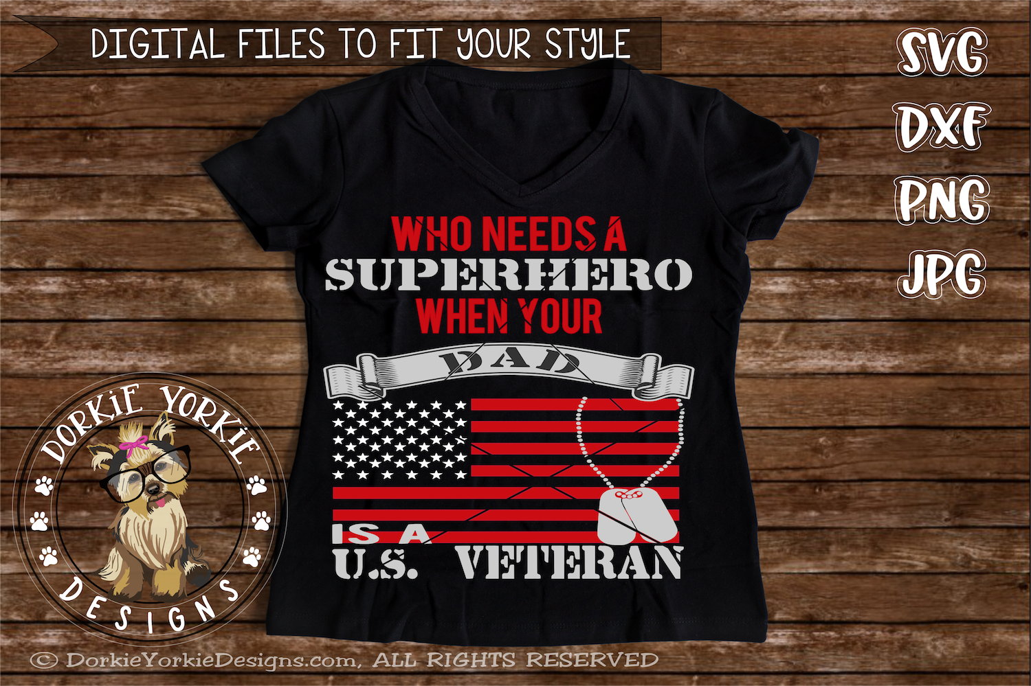 Who needs a superhero when your dad is a US Veteran example image 3