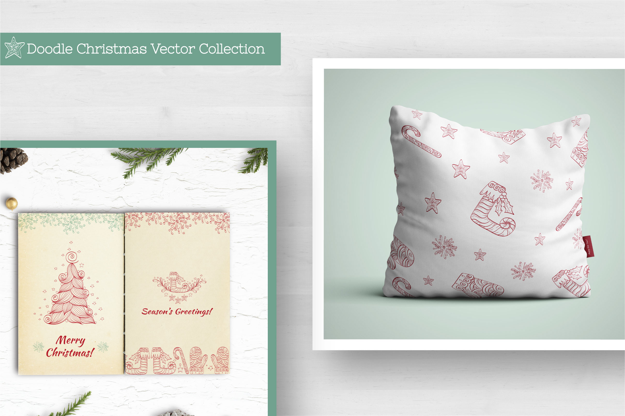 Doodle Christmas Vector Collection example image 9