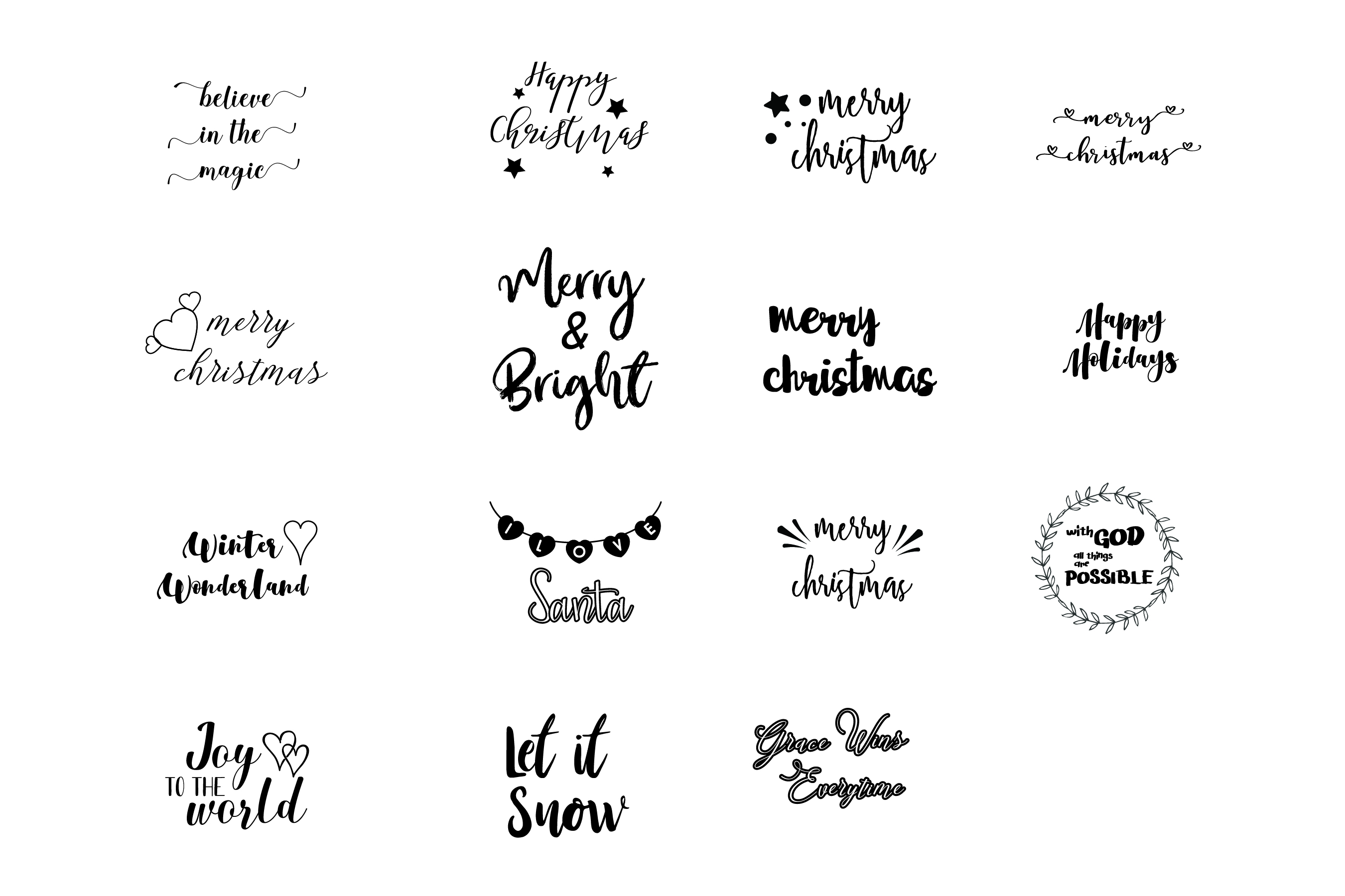Christmas Sayings, Quotes, SVG Cut FIle, Mug, Tshirt Designs