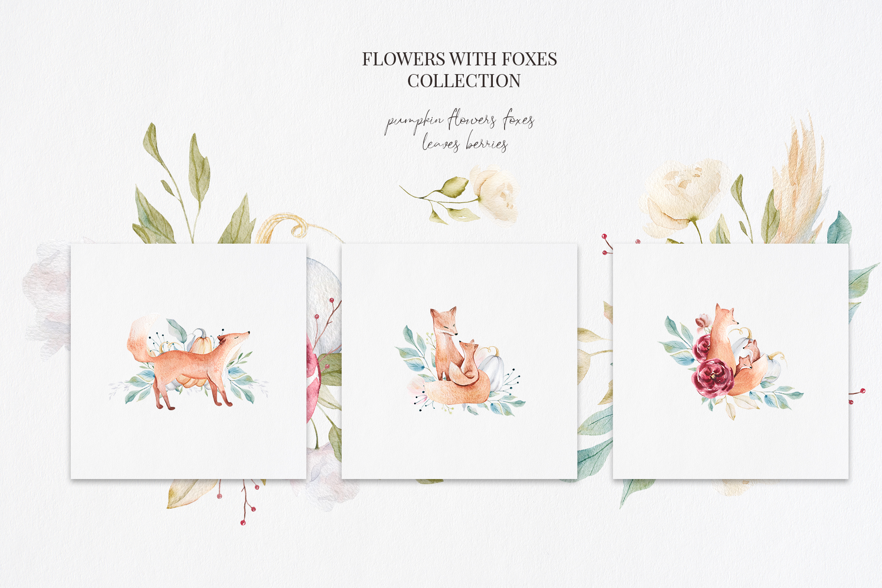 It's Autumn Story Collection, watercolor autumn fox, fall example image 4