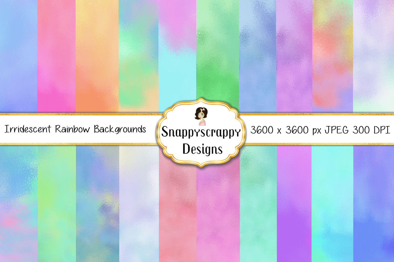 Iridescent Rainbow background Papers example image 1