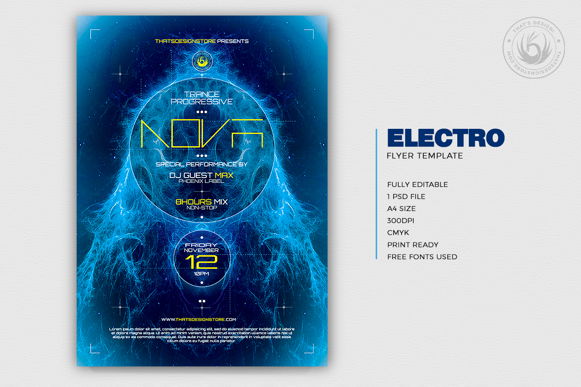 Electro Flyer Template V1 example image 2